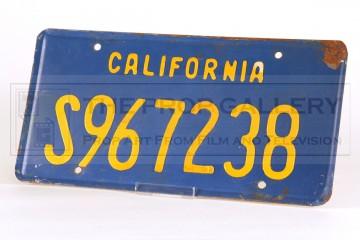 GMC van licence plate