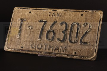 Gotham City taxi licence plate