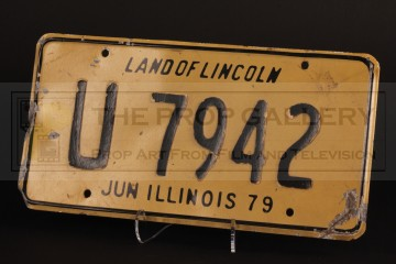 Police car licence plate