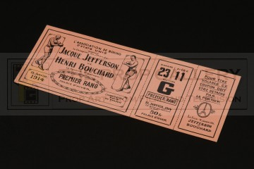 Boxing ticket