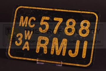 Max Guevara (Jessica Alba) motorcycle licence plate