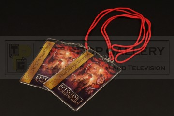 Digital projection premiere lanyards & ticket