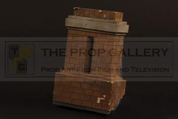 Model miniature house chimney