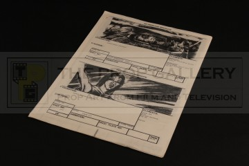 Production used storyboard sequence - Atreyu & Morla