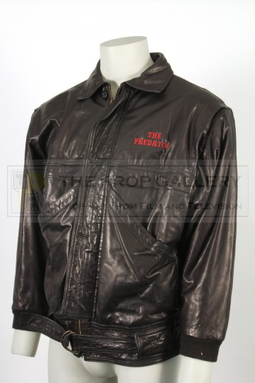 Leather crew jacket