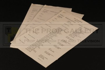 Production used cast lists