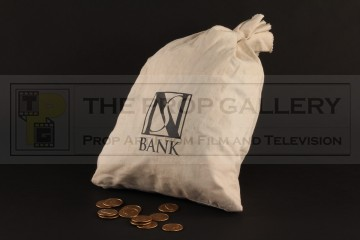 Bank bag & coins