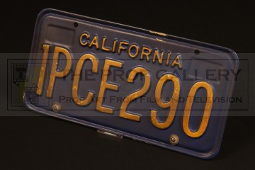 The Terminator (Arnold Schwarzenegger) Chevrolet Caprice licence plate