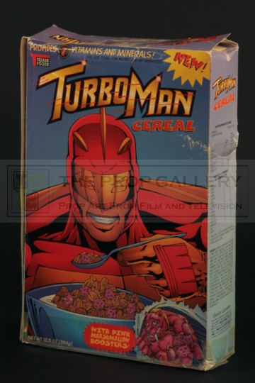 Turbo Man cereal box