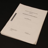 Production used script - Marshall & Snellgrove