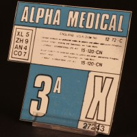 Alpha medical decal