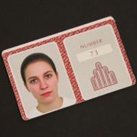 73's identification card