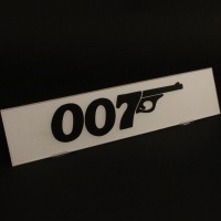 007 licence plate