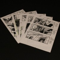 Production used storyboard sequence