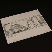 Production used storyboard - Bishop & APS