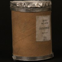 Miniature cocoa powder barrel