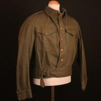 Private Joe Walker (James Beck) battle dress