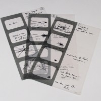 John Wood hand drawn storyboard concept artwork - The Space Pirates