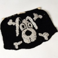 Kevin the Dog Jolly Roger knitting