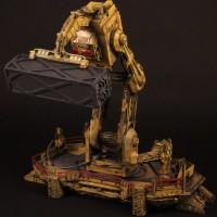 Cargo bay crane miniature