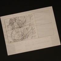 Hand drawn storyboard - Luke falls down reactor shaft