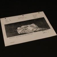ILM production used storyboard - Millennium Falcon
