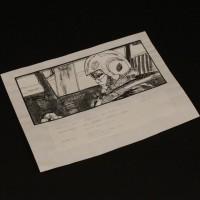 Hand drawn storyboard artwork - Interior speeder