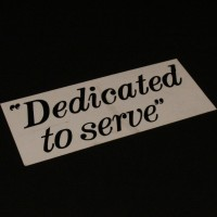 Dedicated to Serve police car sign