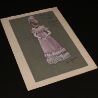 Matilda Crawley (Barbara Couper) costume design artwork