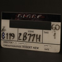 Digital clapperboard face