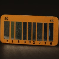 Futuristic barcode licence plate miniature