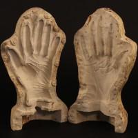 Davros (Terry Molloy) hand mould