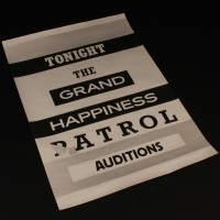 Audition poster - The Happiness Patrol