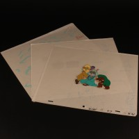 Ewok animations cels x3