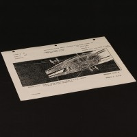 ILM production used storyboard - Falcon & Tie Fighters