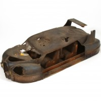 Large scale distressed car miniature