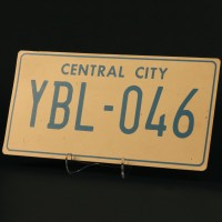Central City licence plate