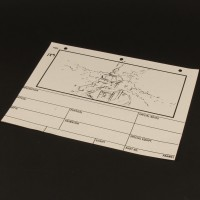 Production used storyboard - Gozer temple