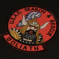Goliath costume patch