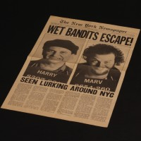 Wet Bandits Escape newspaper