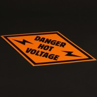Danger Hot Voltage decal