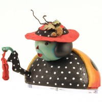 Mrs. Ladybug puppet head