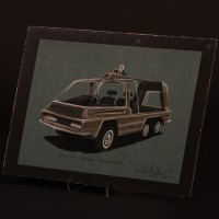 Derek Meddings EUROSEC/SHADO Jeep concept artwork