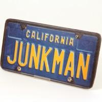 Junkman licence plate