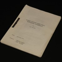 Production used early draft script