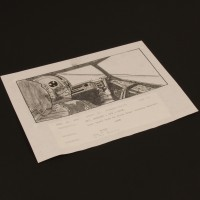 Hand drawn storyboard artwork - Luke in speeder