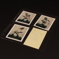 Production used Pote Snitkin maquette polaroid set