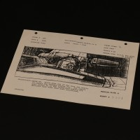 ILM production used storyboard - R2 repairs X-Wing