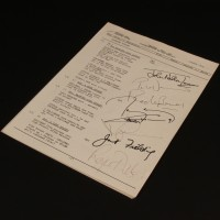 Autographed running order - Resurrection of the Daleks
