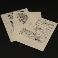 Production used storyboards - Jabba the Hut